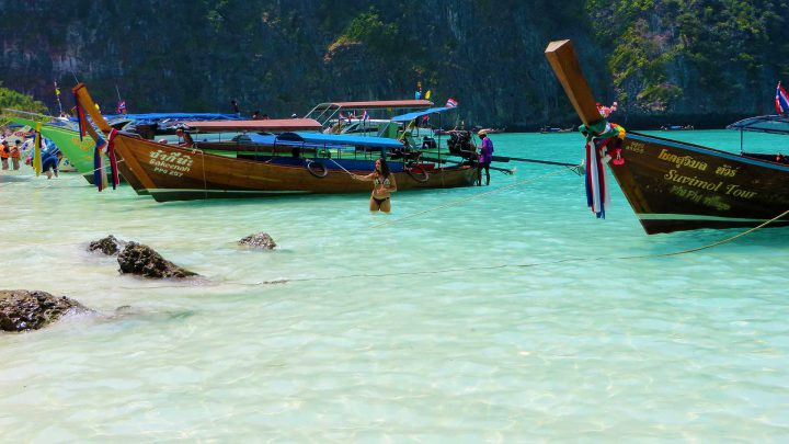 Long tail boat: Maya Bay